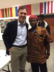 Amara Kante with the Honourable Bill Morneau M.P.