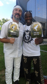 Amara Kanté with Gordie Johnson of the band Big Sugar